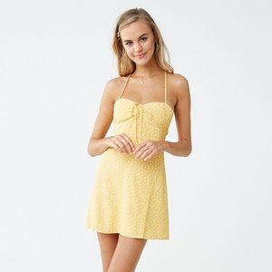 Yellow polka dot Forever 21 dress